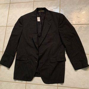 Brooks Brothers Black Pinstripe Suit Mens (44 Reg)